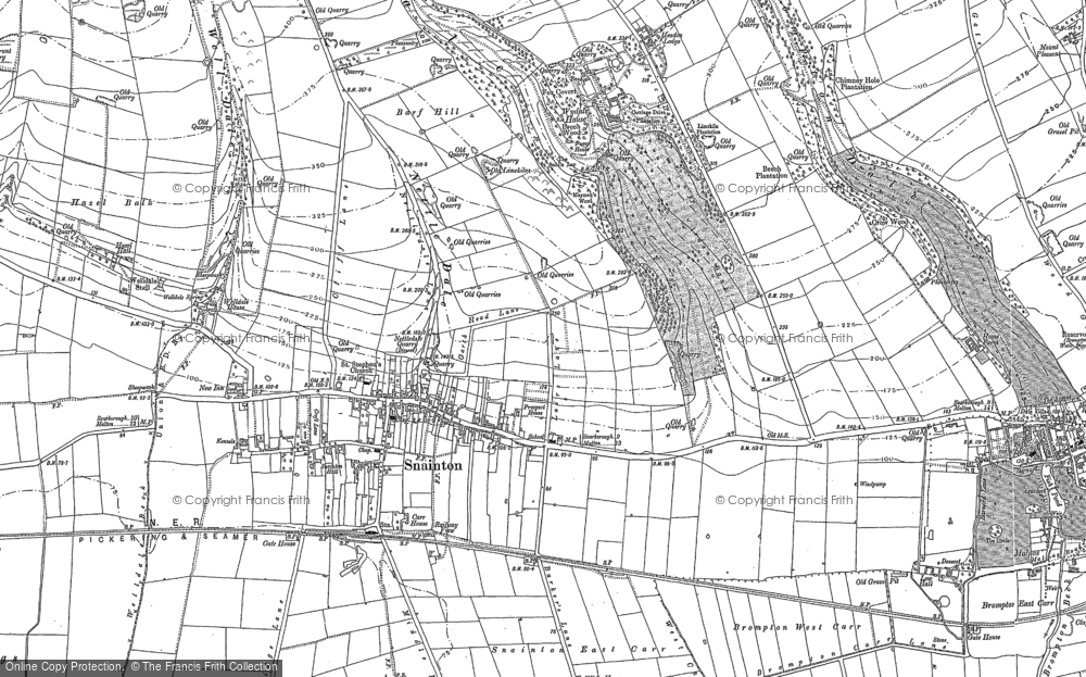 Old Map of Historic Map covering Wydale Hall in 1889