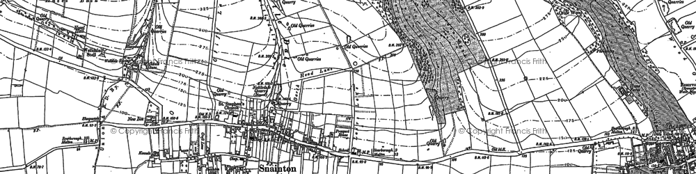 Old map of Snainton in 1889