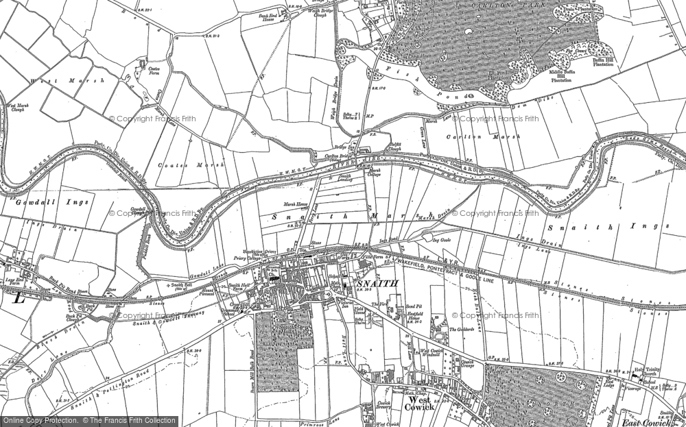 Old Map of Snaith, 1888 in 1888