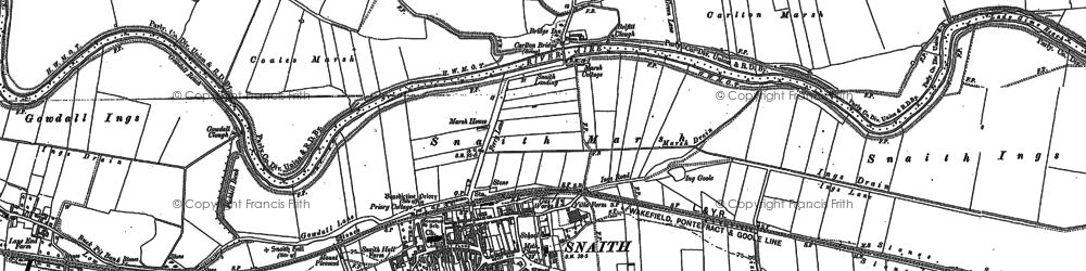 Old map of Snaith in 1888
