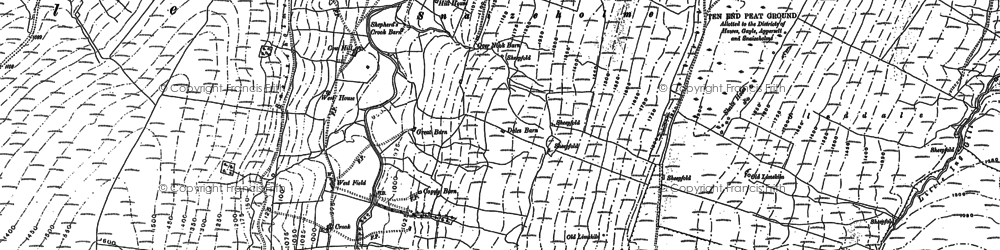 Old map of Widdale Side Allotments in 1907