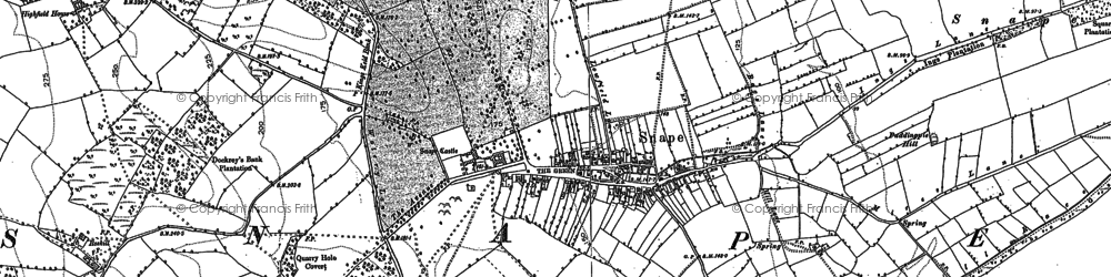 Old map of Snape in 1890