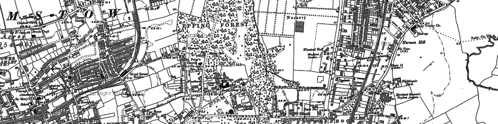 Old map of Upper Walthamstow in 1894