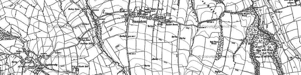 Old map of Laund Ho in 1892