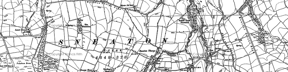 Old map of White Moor Mill in 1892