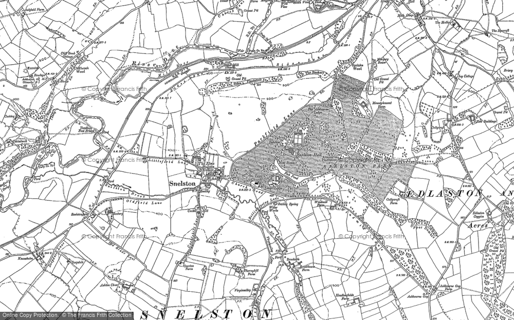 Old Map of Historic Map covering Ashton Close in 1880