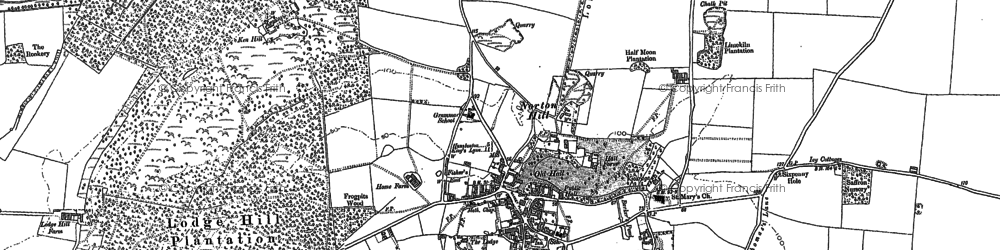 Old map of Snettisham in 1885