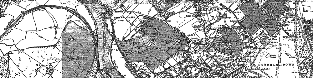Old map of Sneyd Park in 1902