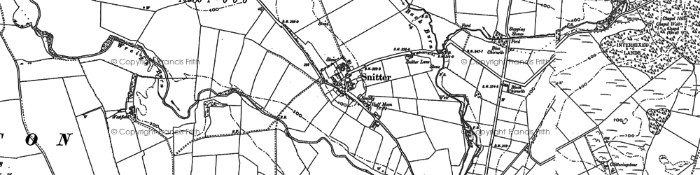 Old map of Wreigh Burn in 1896