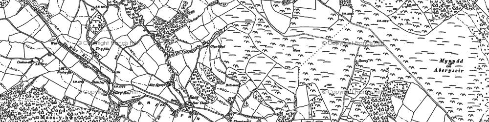 Old map of Tir-y-felin in 1886