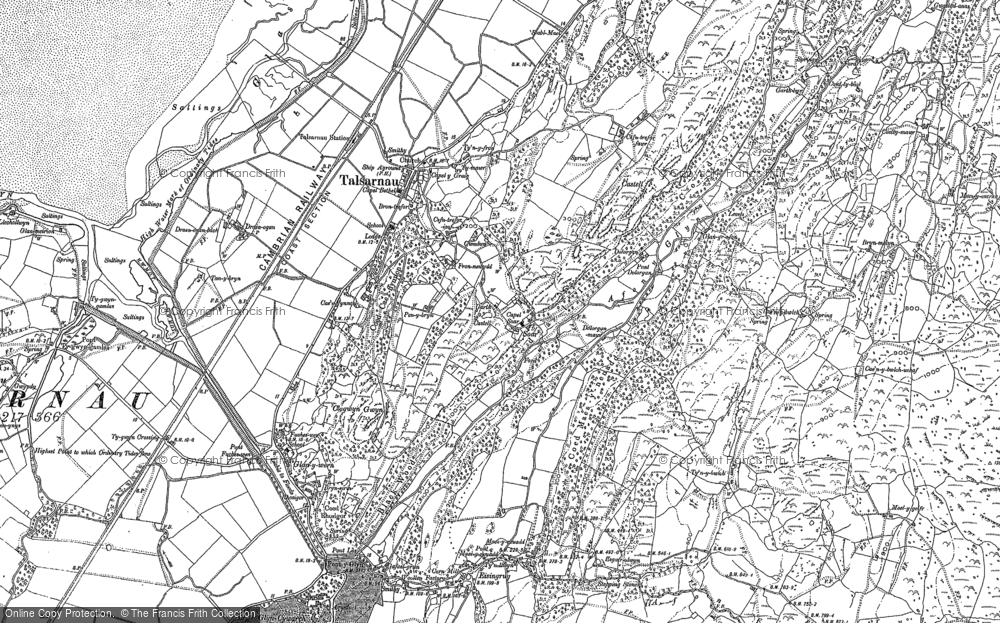 Old Map of Historic Map covering Afon Eisingrug in 1887