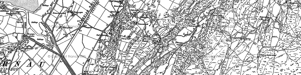 Old map of Afon Eisingrug in 1887