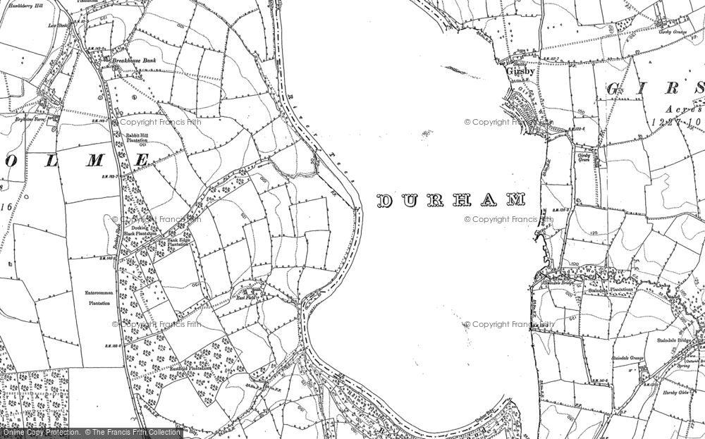 Old Map of Historic Map covering Wood Head in 1892