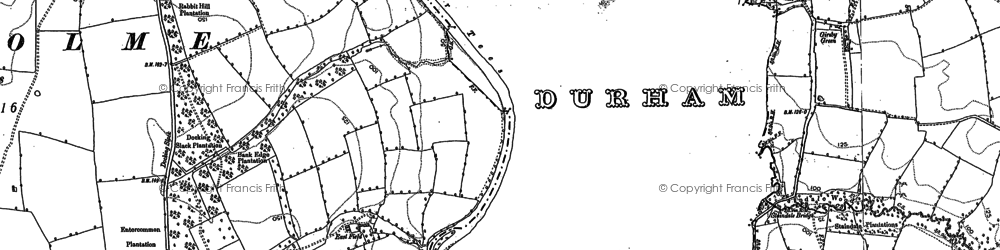 Old map of Wood Head in 1892
