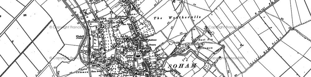 Old map of Broad Hill in 1886