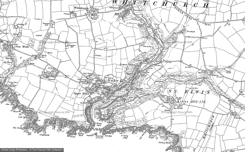 Old Map of Historic Map covering Aber-west in 1906