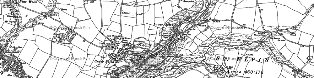 Old map of Aber-west in 1906