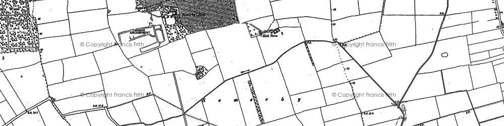 Old map of Willoughton Wood in 1885