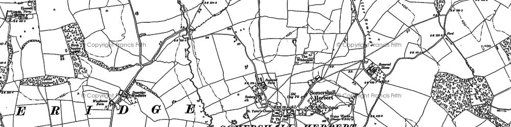 Old map of Palmer Moor in 1880