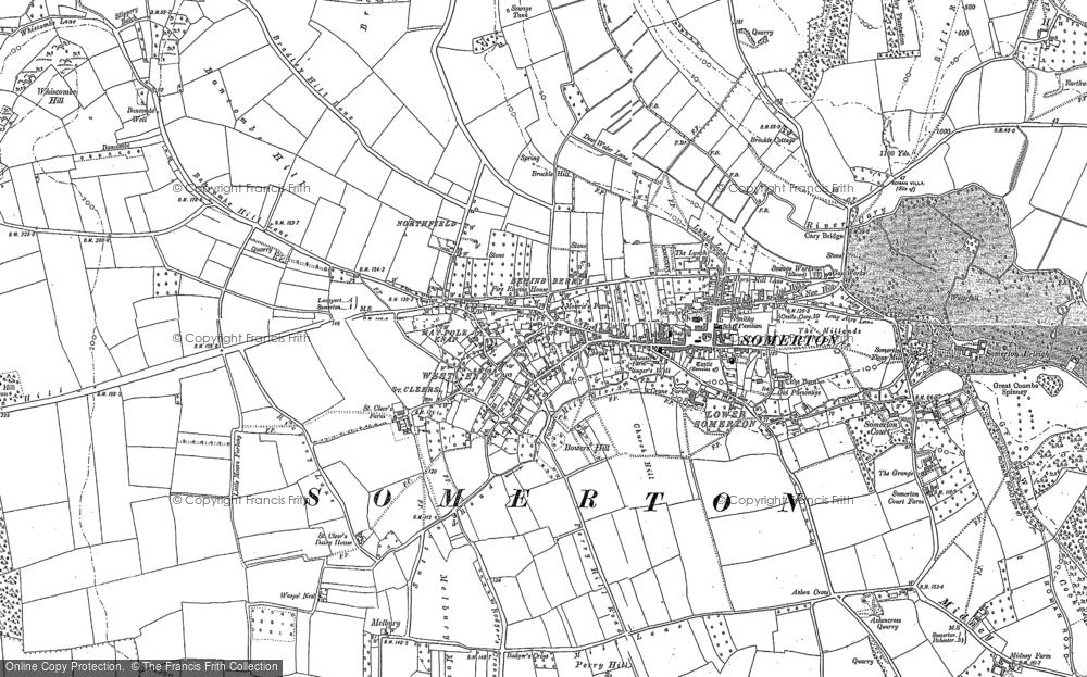 Map of Somerton, 1885
