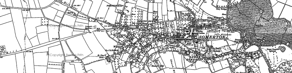 Old map of Somerton in 1885