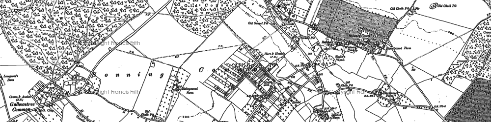 Old map of Sonning Common in 1897
