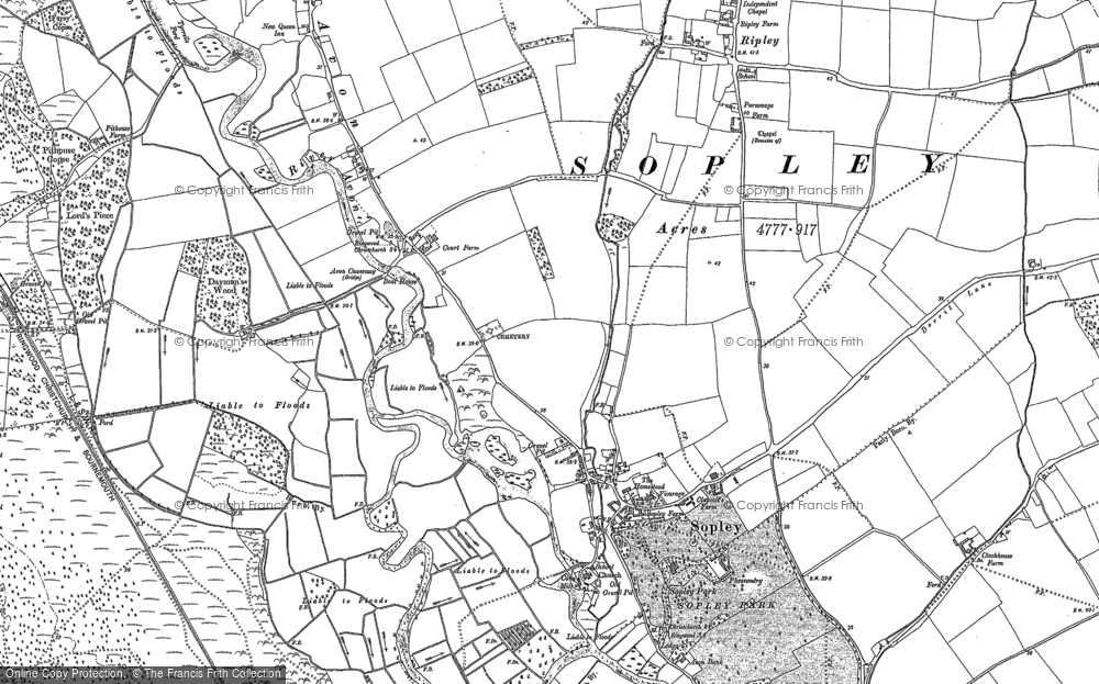 Map of Sopley, 1907