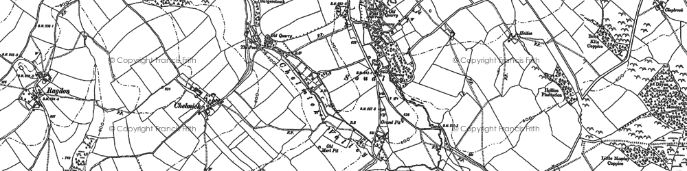 Old map of Woodgate Cott in 1882
