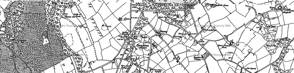 Old map of Soughton in 1898