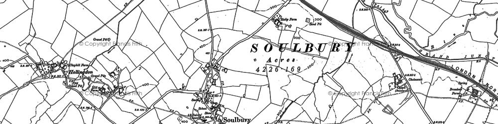 Old map of Winscott in 1923