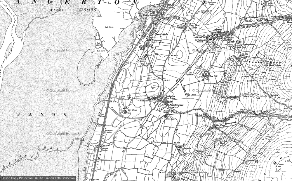 Old Map of Historic Map covering Bailiff Ground in 1911