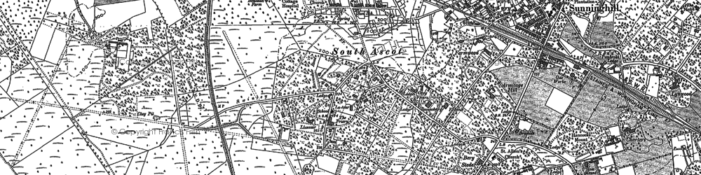 Old map of South Ascot in 1898