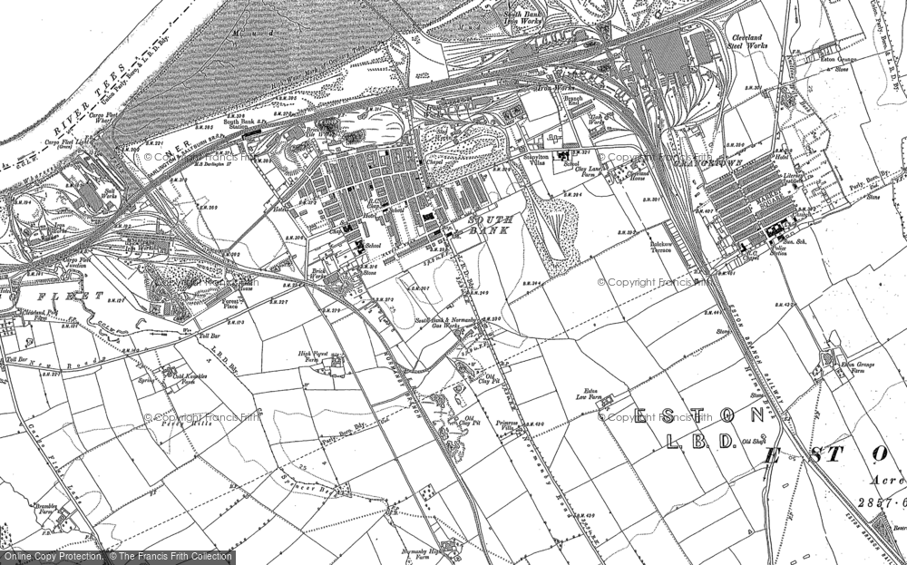 Old Map of Historic Map covering Yorkshire in 1913