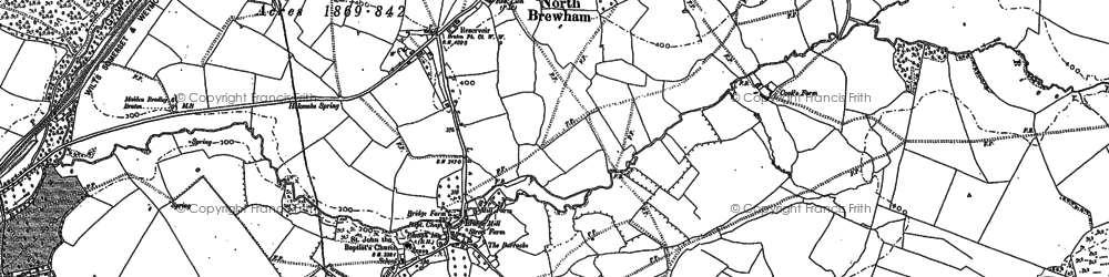 Old map of Aaron's Hill in 1884