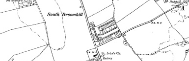 Old map of South Broomhill centred on your home