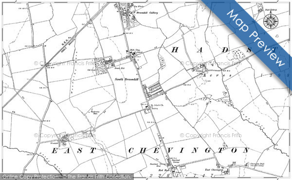 Historic map of South Broomhill