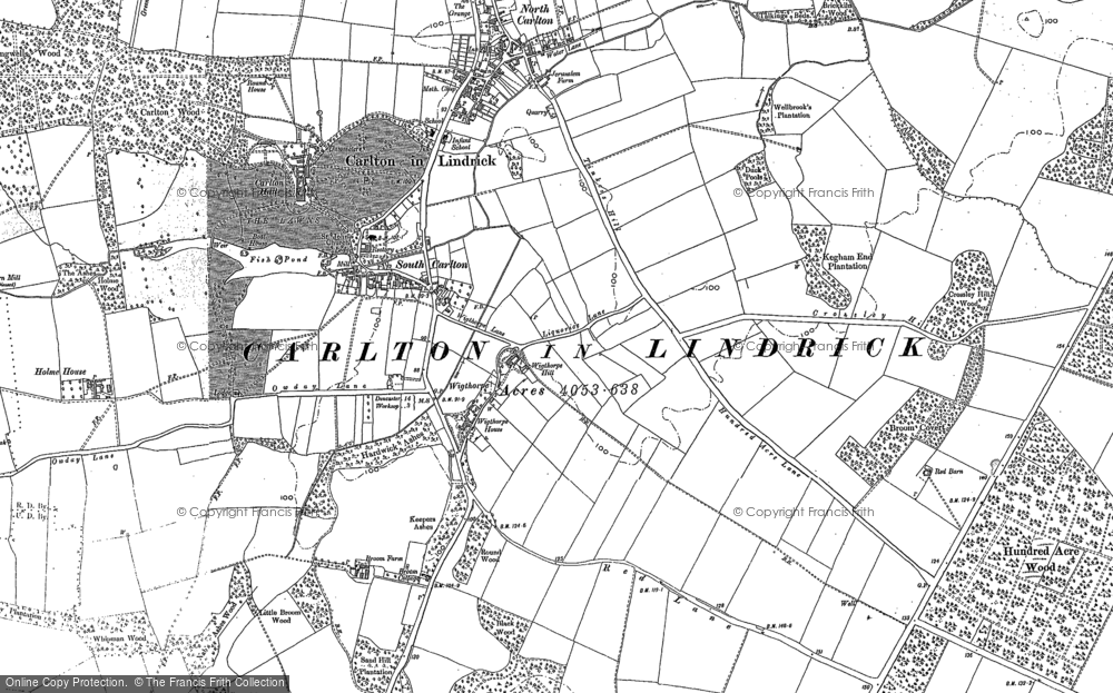 Old Map Of Historic Covering Hundred Acre Wood In 1897