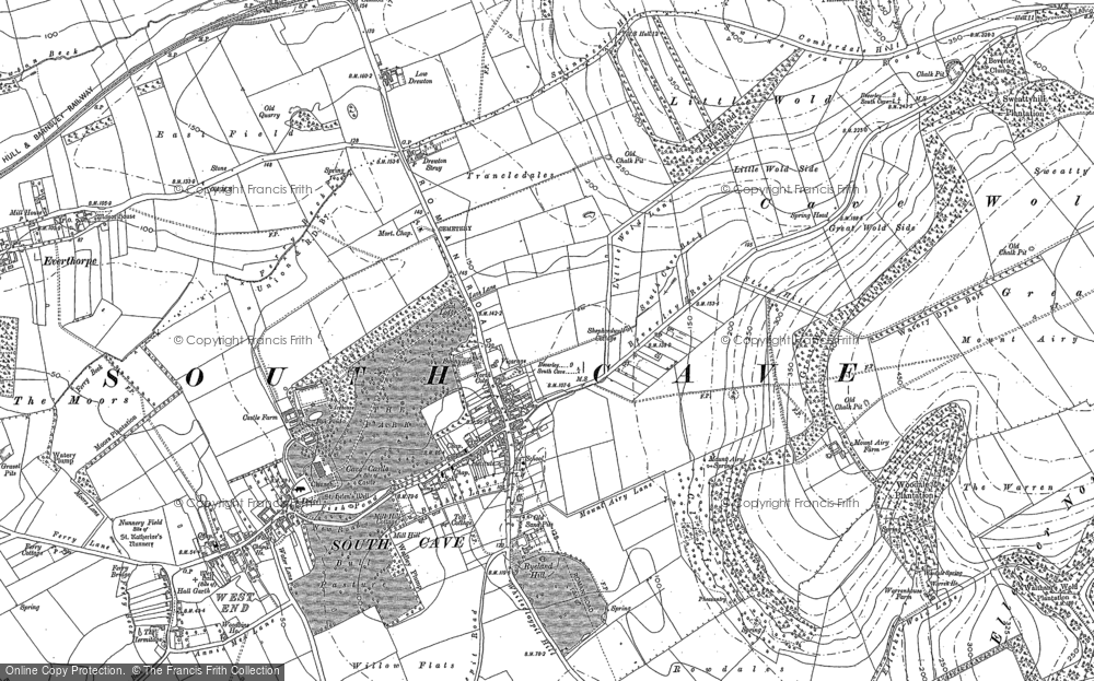 Old Map of South Cave, 1888 - 1889 in 1888