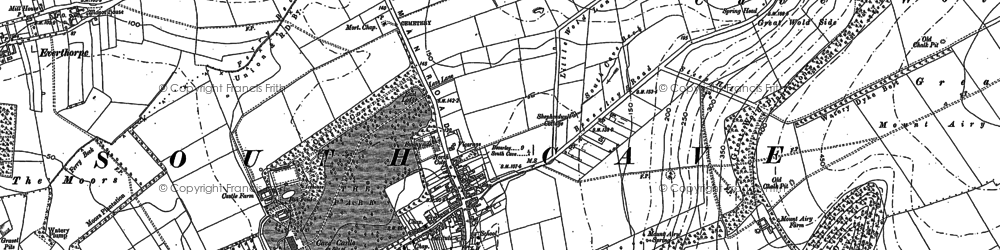 Old map of South Cave in 1888