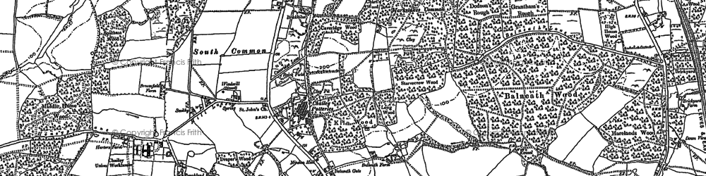 Old map of Yokehurst in 1896