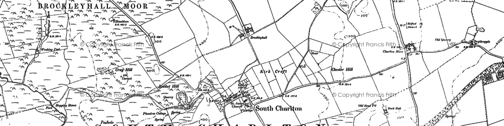 Old map of Linkhall Moor in 1896