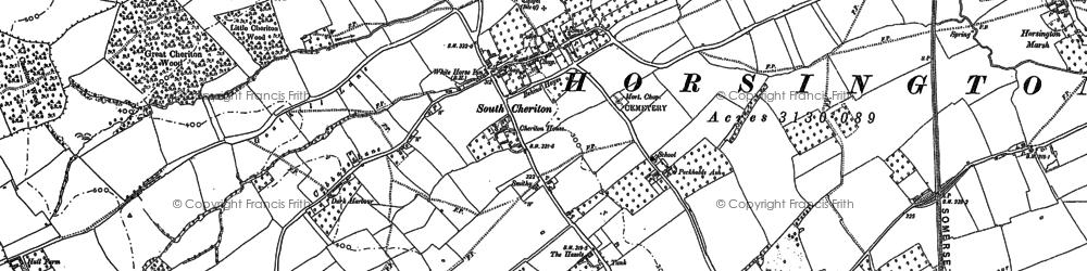Old map of Wilkinthroop in 1885