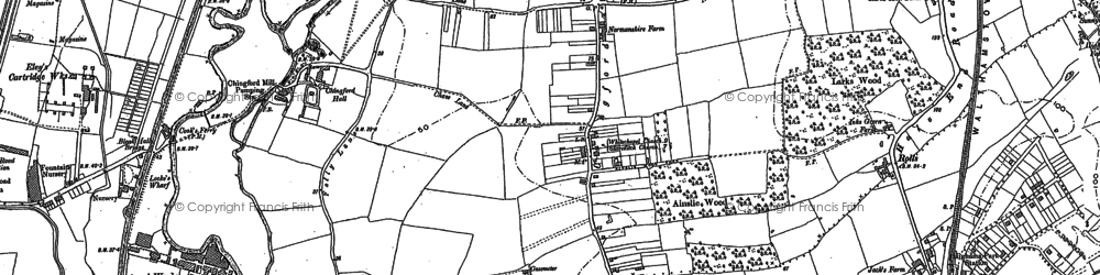 Old map of South Chingford in 1894