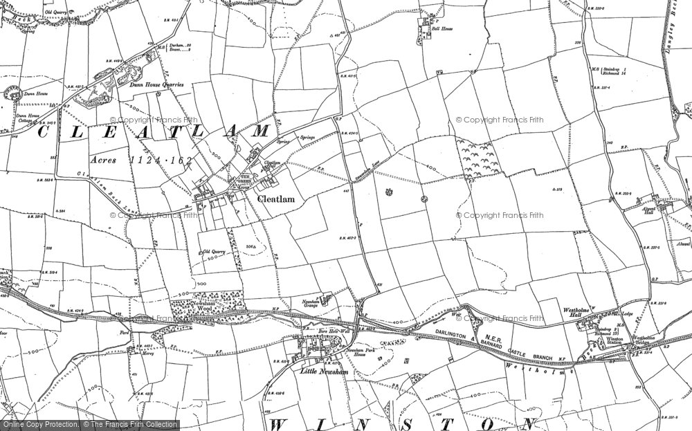 Old Map of Historic Map covering Westholme Hall in 1896