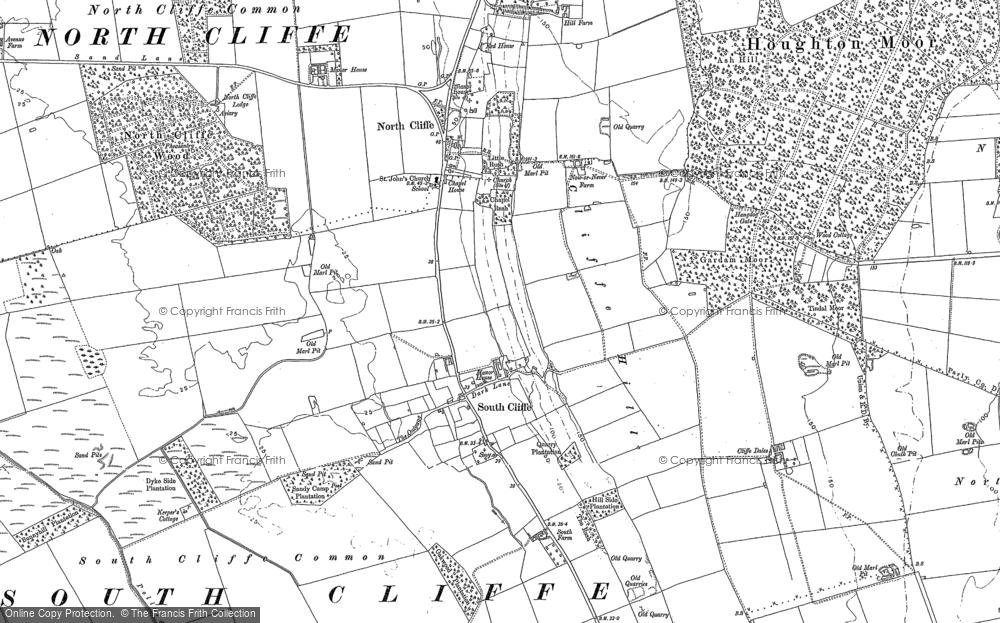 Old Map of Historic Map covering Tollingham in 1889
