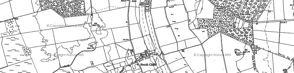 Old map of Tollingham in 1889