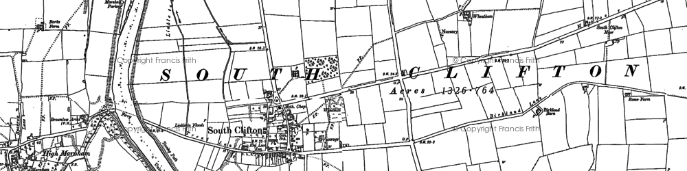 Old map of Wheatholme in 1884