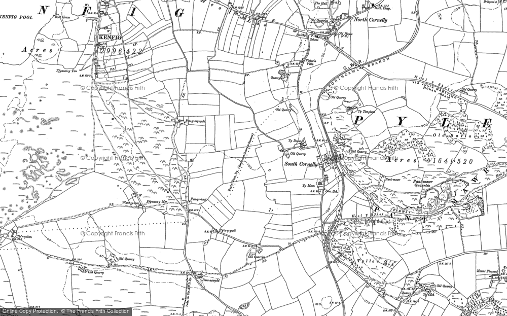 Old Map of South Cornelly, 1897 - 1914 in 1897