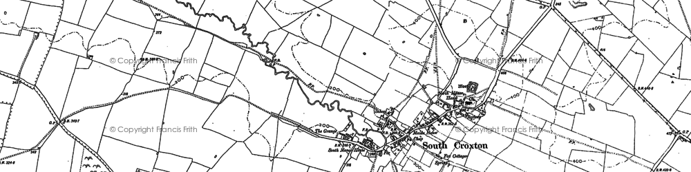 Old map of Barkby Holt in 1884