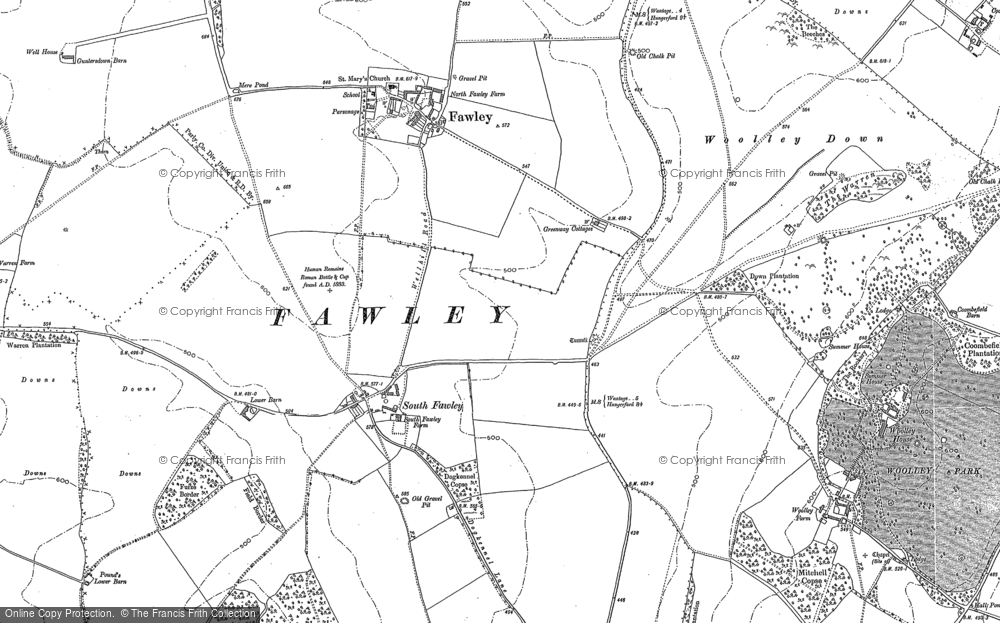 Old Map of South Fawley, 1898 - 1910 in 1898